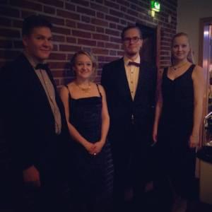 Kuvassa Quartet Marianna pikkujouluissa 2015
